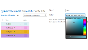 ColorPicker et colorisation des listes en JSLink pour SharePoint 2013 ou Office 365